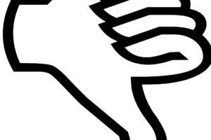 thumb-down-silhouette