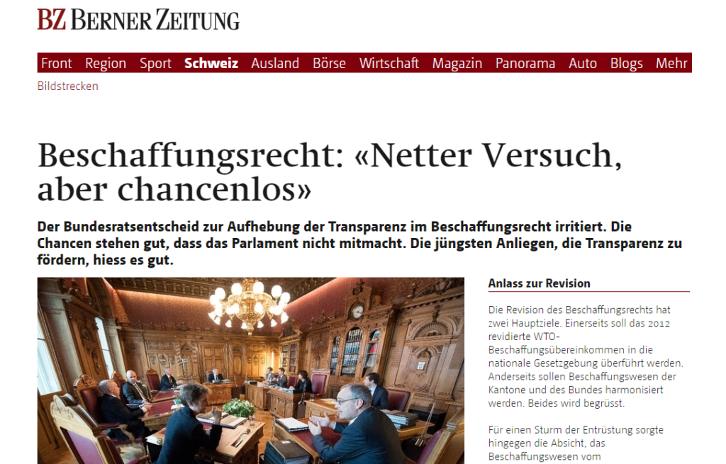 2017-02-18 10_34_08-Beschaffungsrecht_ «Netter Versuch, aber chancenlos» - Schweiz_ Standard - berne